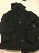 Lovely Ladies Black Padded Coat From BOYSONS Size 10
