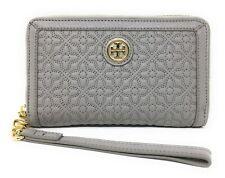 Tory Burch Bryant Mercury Grey Leather Smartphone Wristlet Wallet - $165 MSRP!
