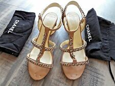 CHANEL Biege Stappy  Sandals  size 38