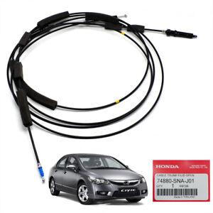Lid Open Trunk / Fuel Gas Door Release Cable Fits Honda Civic FD Sedan 2006 2011
