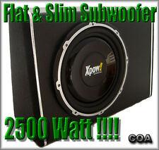 SUBWOOFER AUTO ATTIVO SUPER SLIM FLAT da 30  CM. con 2500 WATT MAX !!!