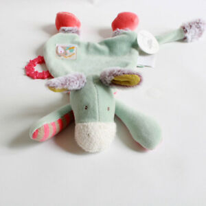 Moulin Roty Baby Comforter Donkey Blue Red - Biscotte & Pompon Range