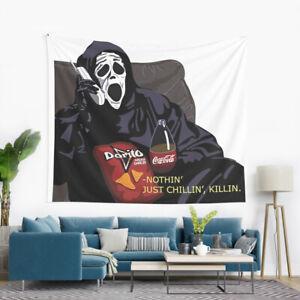 """Nothin-Just Chillin, Killin' Wall Hanging Tapestry, Dorito Scary Movie Tapestry"