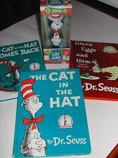 FUNKO Cat In The Hat Funko bobble head and 3 Dr Seuss books LOT!