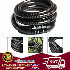 COMBINATION BIKE CABLE LOCK BICYCLE HEAVY DUTY THICK CYCLE BIKE SECURITY 1000mm