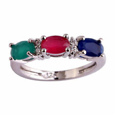 Emerald Band Stone Fashion Rings