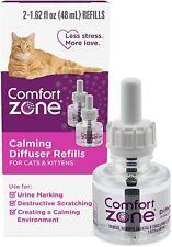 Comfort Zone Calming Diffuser Refills 2 Pack For Cats & Kittens Natural Calming