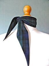 Black and green tartan scarf, Black Watch Tartan blue green plaid retro scarf