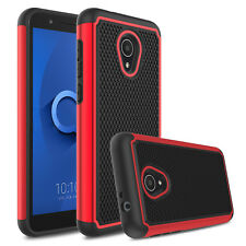 For Alcatel TCL LX A502DL IdealXTRA 1X Evolve Shockproof Hybrid Armor Case Cover
