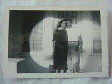 Vintage Photo Black Man & Pretty Girl in Spotlight 790