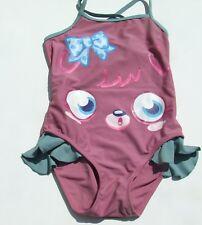 MOSHI MONSTER  DUSKY PINK GIRLS SWIMSUIT COSTUME CROSS BACK SIZE  7-8 YEARS