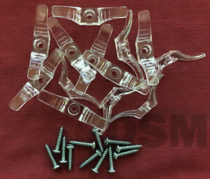Qty. 12 Window Blind Cord Cleats Clear with Screws. for Blinds - Shades - String