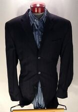 A158 Calvin Klein Navy Pinstripe Men Suit 44L 38W Made in Canada