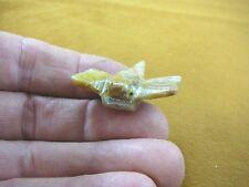 Y-Drag-10) Tan Dragonfly fly figurine Bug carving Soapstone Peru love dragonfies