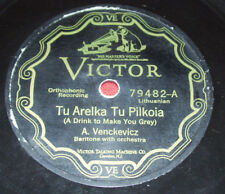 A. VENCKEVICZ 78 rpm pre war LITHUANIAN Victor 79482 V+