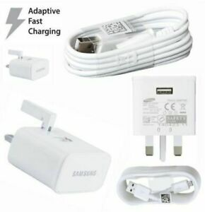 Fast Samsung Fast Charger Plug& Micro USB Cable For Galaxy S7,S6,S4,J3,J5,A5.