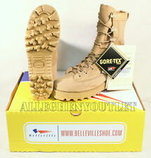 NIB US Military BELLEVILLE 790 ICB Goretex Combat Boots Vibram Sole TAN 4 R