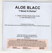 (GS771) Aloe Blacc, I Need A Dollar - 2010 DJ CD