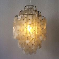 Original MId Century VERNER PANTON Shell Pendant Lamp CHANDELIER FUN 1DM J LUBER