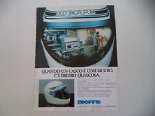 advertising Pubblicità 1982 CASCO HELMET BIEFFE