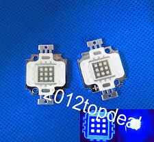 10W 450nm-460nm Royal Blue LED 9-12VDC for Aquarium light high power led chip