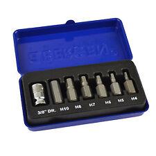 """Hex / Allen Key Sockets 3/8"""" Drive 4mm  10mm 7pcs BERGEN AT777"""