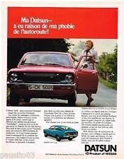 PUBLICITE ADVERTISING 095  1977  DATSUN  La 120Y coupé