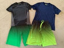 Men's gym shirts and shorts (2 each, 4 in total)