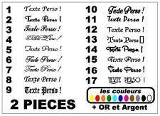 2x Stickers réservoir moto café racer  texte personnalisé / 17 modèles