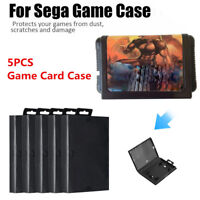 5x Empty Game Shell Box Case For Sega Genesis Cartridge Replacement Accessories