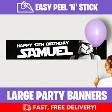Star Wars Personalised Birthday Party Banners (110cm x 21.5cm) Design Service