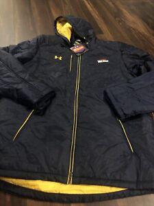 New Under Armour Mens Toledo Rockets Cold Gear Parka Jacket Size 2XL Coat Navy
