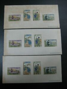 Laos 1963 Freedom From Hunger Stamps Imperf Mini Sheet  SC # 84A