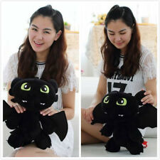 "NEW 12"" How to Train Your Dragon Plush Toothless Night Fury Soft Toy Doll *"