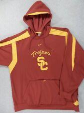 New listing USC Trojans Nike Fit Therma GAME DAY Hoodie Sweatshirt (Mens XL) Cardinal/Gold