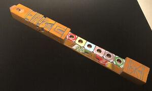 Hand Carved Wooden Flute, Native Folk Art Tiki Totem Pole Flute, Neat Look!