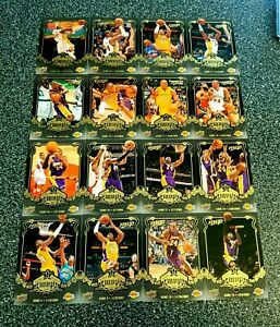 KOBE BRYANT 2008/09 UPPER DECK MVP COLLECTION  BLACK LOT OF 16 NO DOUBLES