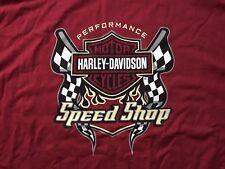 Harley Davidson Speed Shop Maroon Shirt NWT Men's Large