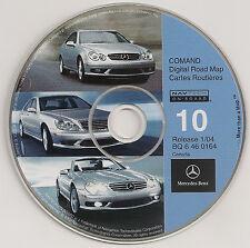2000 2001 2002 Mercedes E55 E430 E320 Navigation CD Map #10 Cover: Canada