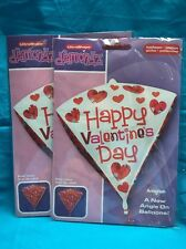Two New Happy Valentine's Day Triangle Shaped Mylar Balloons From Anagram