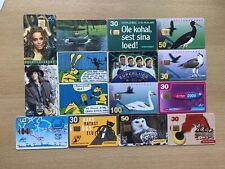 15 Estonia used phonecards - joblot