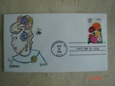 Garden Flowers Zinnia 29c Stamp FDC Steve Wilson Cachet Sc#2830