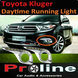 Toyota Kluger 10-14 DRL Daytime Day time running LED light fog light accessories