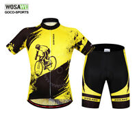 Men's Cycling Jersey Shorts Set Short Sleeve MTB Teamwear Bike Bicycle Clothing
