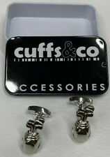 Box Cuffs & Co Xmas Wedding craft Golf Bag and Clubs Cufflinks Metal Case Gift