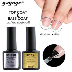 10ml Yayoge Base Coat No Wipe Top Coat Soak Off UV LED Nail Art Gel Polish