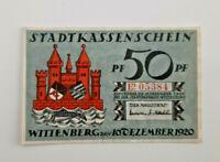 WITTENBERG NOTGELD 50 PFENNIG 1920 NOTGELDSCHEIN (11625)