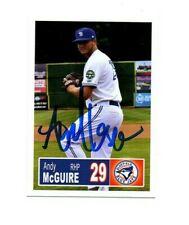 Andy McGuire 2018 Bluefield Blue Jays auto signed team rookie card Oakton VA b