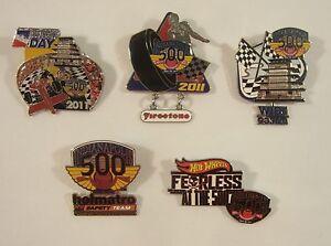 2011 Indianapolis 500 5 Collector Sponsors Pin Firestone Holmatro WIBC Hot Wheel