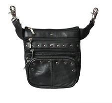 Concealed Carry Fanny Pack Weapon Holster Messenger Bag Motorcycle Purse Handbag